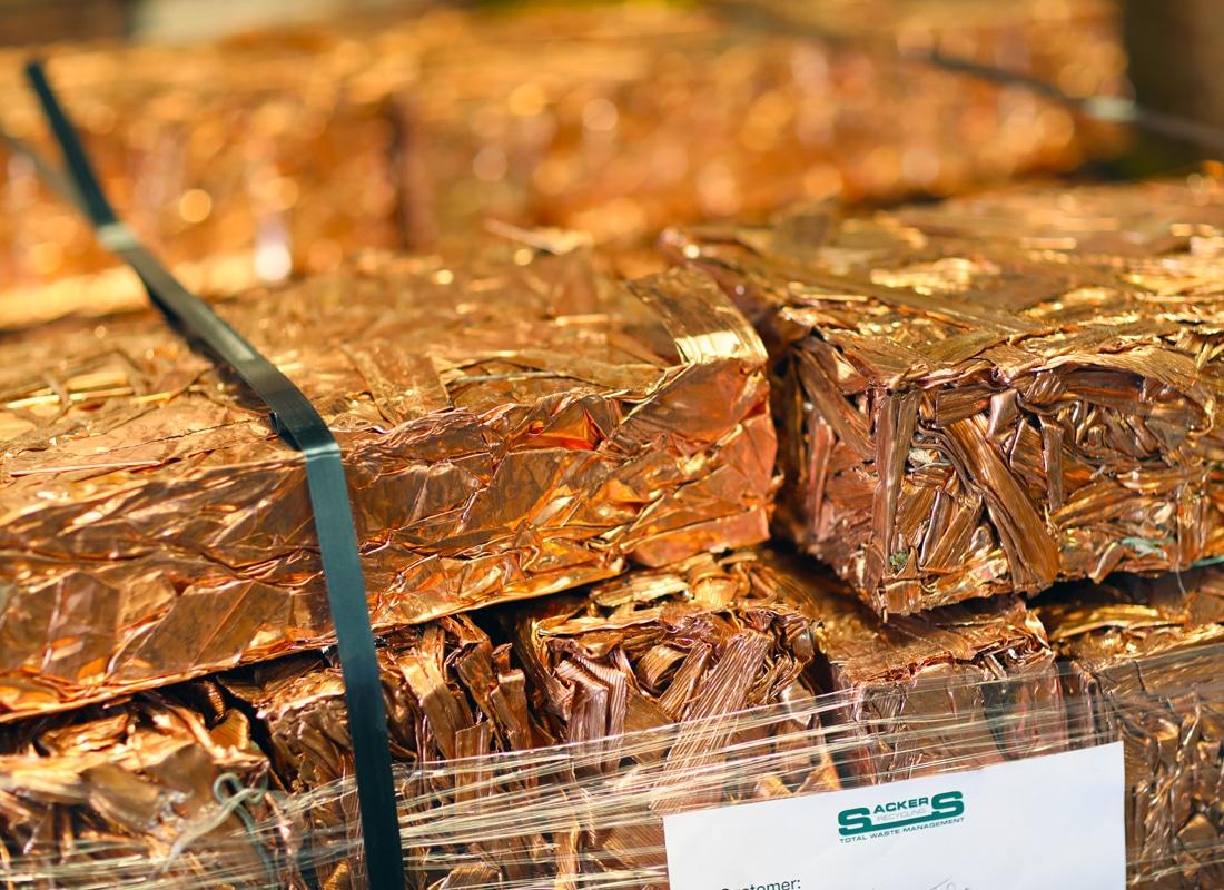 Processed copper