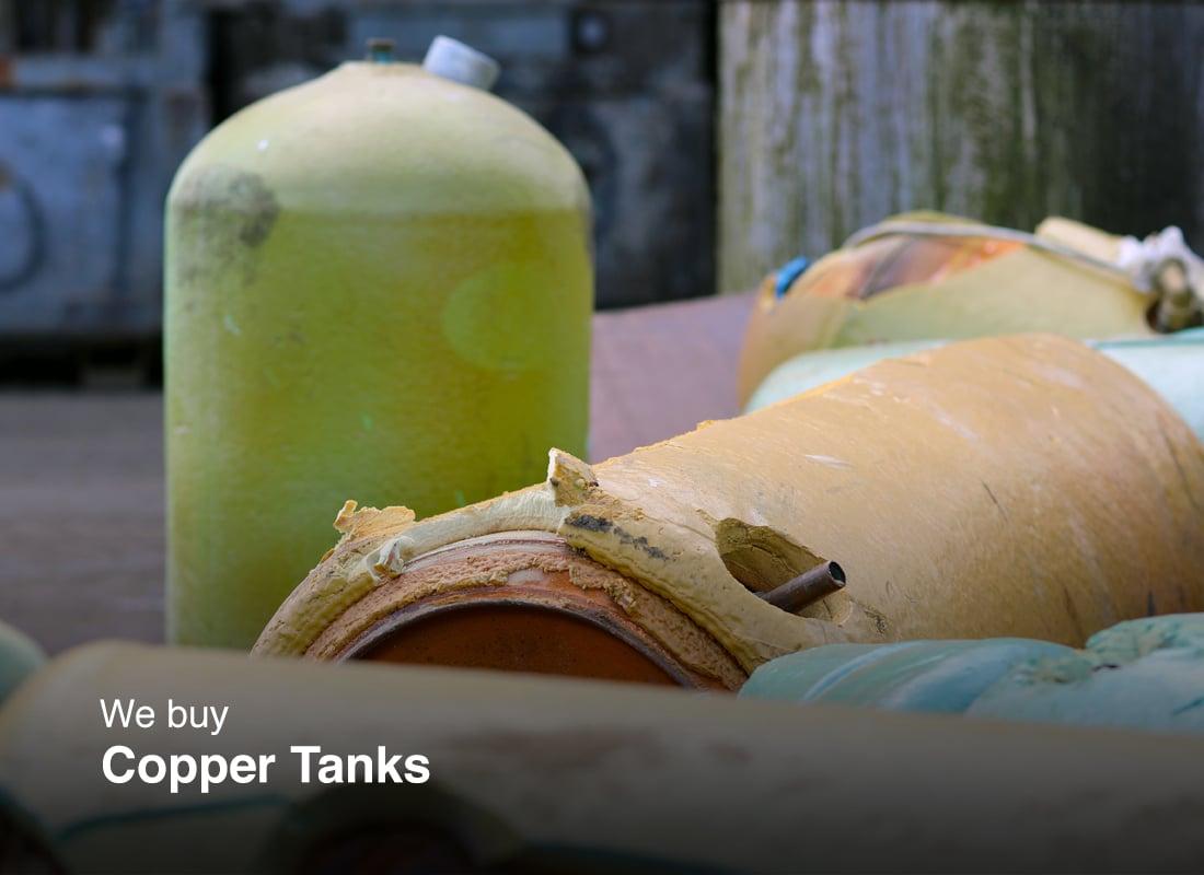Old copper tanks
