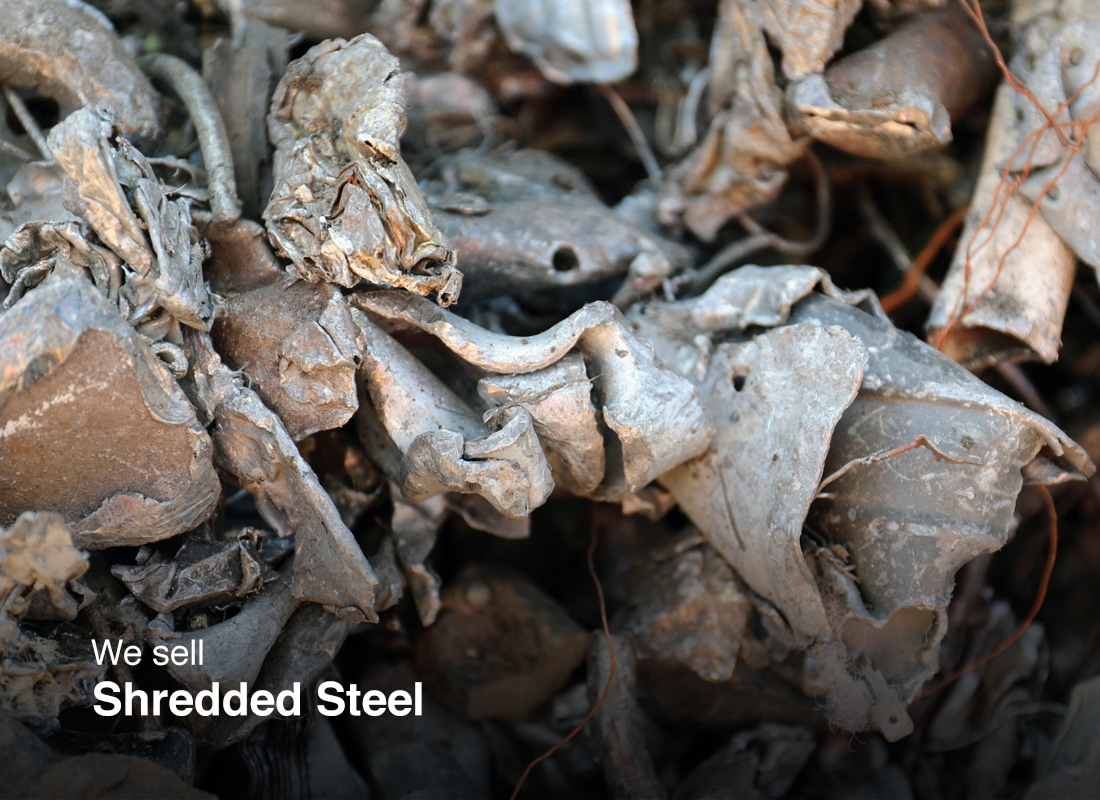 Shredded steel ready for sale